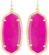 Image of Kendra Scott Elle Gold Earrings in Magenta Magnesite View 1
