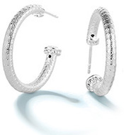 Image of Chamilia Crystal Capped Hoop Earring - Bright View 2