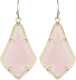 Image of Kendra Scott Alex Gold Earrings in Rose Quartz View 1