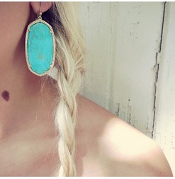 Kendra scott danielle earrings turquoise 2 1