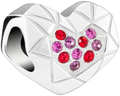 Image of Chamilia Faceted Heart View 2