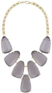 Image of Kendra Scott Harlow Gold Necklace in Slate Cat's Eye View 1