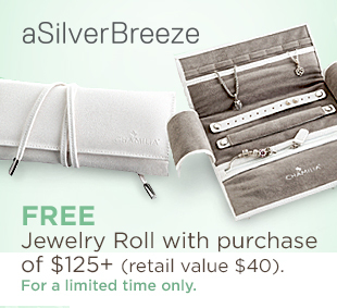 Free Chamilia Jewelry Roll with purchase of 125+