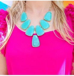 Kendra scott harlow necklace in chalcedony 1