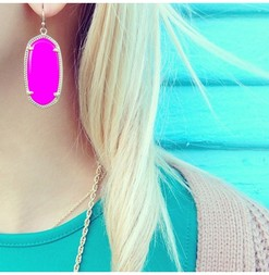 Kendra scott elle earrings in magenta 1