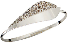 Image of Ed Levin Silver Split Leaf Bracelet View 2