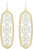 Brenden Earring Gold and Rhodium