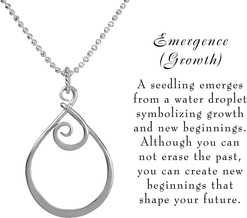 Emergence lg necklace w meaning