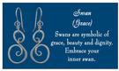 Image of Saratoga Jewels Swan (Grace) - Earrings View 3