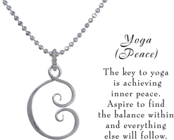 Yoga necklace w meaning