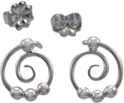 Image of Saratoga Jewels Dew Drop - Spiral Post Earrings View 1