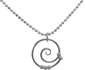 Image of Saratoga Jewels Dew Drop - Spiral Necklace View 2