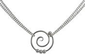Image of Saratoga Jewels Dew Drop - Spiral Double Chain Necklace View 3