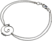 Image of Saratoga Jewels Dew Drop - Spiral Double Chain Bracelet View 1