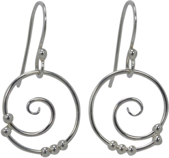 Image of Saratoga Jewels Dew Drop - Spiral Earrings View 1