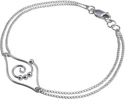 Image of Scout Dew Drop - Leaf Double Chain Bracelet View 1
