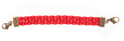 Image of Lenny and Eva Braided Leather Link-Red View 1