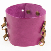 Image of Lenny and Eva Wide Cuff- Mulberry View 1