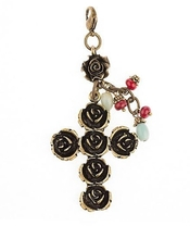 Image of Lenny and Eva focal Pendant-Rose Cross View 1