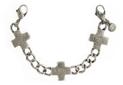 Image of Lenny and Eva Cross Charm Bracelet-Silver View 1