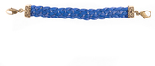Image of Lenny and Eva Braided Leather Link- Blue View 1