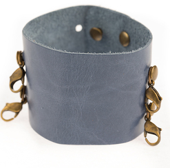 Image of Lenny and Eva Wide Cuff- Cornflower View 1