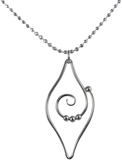 Image of Saratoga Jewels Dew Drop - Leaf Necklace View 2