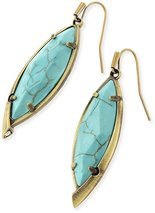 Image of Kendra Scott Max Drop Earrings in Variegated Turquoise View 2