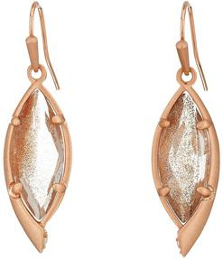 Image of Kendra Scott Max Drop Earrings in Gold Dusted Glass View 1