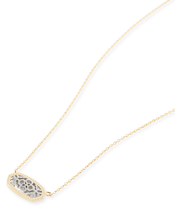 Image of Kendra Scott Elisa/Brie Pendant Necklace in Silver Filigree View 3