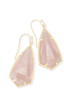 Kendra scott carla earring gold rose quartz a 01