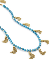 Image of Kendra Scott Vanina Long Necklace in Turquoise View 4