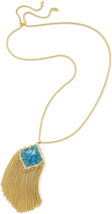 Kendra scott kingston necklace gold bronze veined turquoise a 01