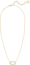 ELISA PAVE NECKLACE_Gold_Ivory