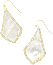 ALEX PAVE EARRING_Gold_Ivory