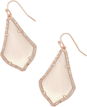 ALEX PAVE EARRING_Rose Gold_Peach