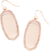 ELLE PAVE EARRING_Rose Gold_Peach