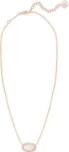 ELISA PAVE NECKLACE_Rose Gold_Peach
