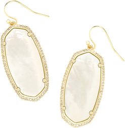 ELLE PAVE EARRING_Gold_Ivory