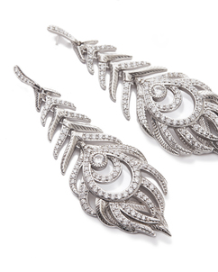Kendra scott elettra earring antique silver white cz a 02