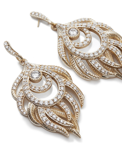 Kendra scott emelia earring gold white cz a 02