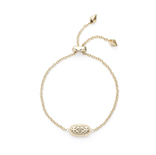 Image of Kendra Scott Elaina Gold Adjustable Chain Bracelet in Gold Filigree View 2
