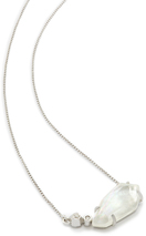 Image of Kendra Scott Barbara Pendant Necklace in Silver View 3