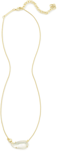 Kendra scott barbara necklace gold white cz ivory mop a 01