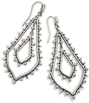 Image of Kendra Scott Alice Statement Earrings In Antique Silver View 1