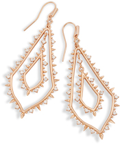 Image of Kendra Scott Alice Statement Earrings In Rose Gold View 1