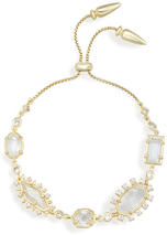 Image of Kendra Scott Alicia Adjustable Chain Bracelet In Gold View 2