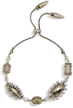 Image of Kendra Scott Alicia Adjustable Chain Bracelet In Antique Silver View 2
