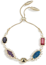 Image of Kendra Scott Alicia Adjustable Chain Bracelet In Brass View 2