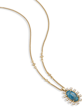 Image of Kendra Scott Brett Pendant Necklace In Aqua Apatite View 2